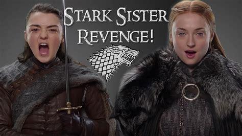 sansa  arya stark    blood game  thrones