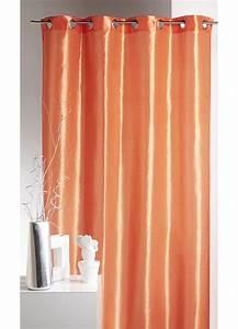 Rideau Couleur Or : rideau ameublement en taffetas uni de couleurs mandarine rouge homemaison vente en ~ Teatrodelosmanantiales.com Idées de Décoration