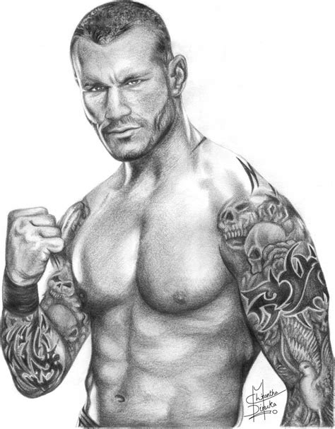 Randy Orton Drawing | Randy orton, Pencil drawings, Randy orton tattoo