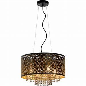 Lustre Metal Noir : lustre oriental en m tal noir 41 cm ral a ~ Teatrodelosmanantiales.com Idées de Décoration