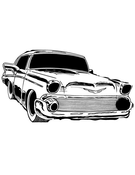 Classic Car Coloring Pages Printable