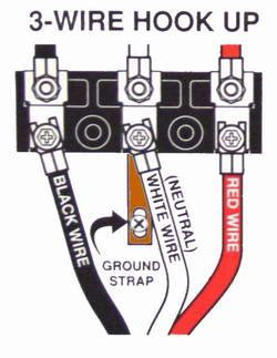 Breaker 3 Wire Dryer Hook Up Diagram by Wireing A 4 Prong To A 3 Prong On An Electric Range