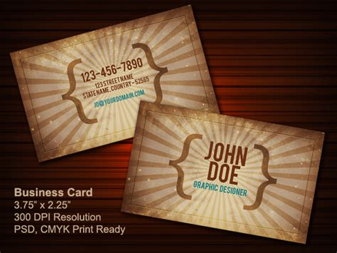 Vintage Business Card Psd (front & Back) Visiting Card Print In Ahmedabad Business Omaha Cards Printing Template Table View Plan Sample Wikihow Ireland Malta Holder