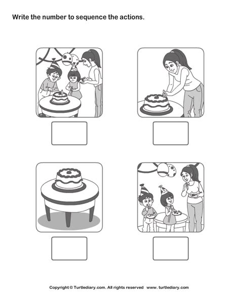 Sequence Worksheets Cake Ideas And Designs