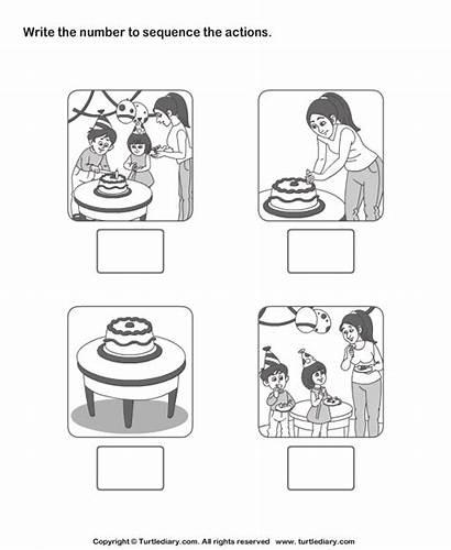 Sequencing Sequence Worksheets Worksheet Kindergarten Story Birthday
