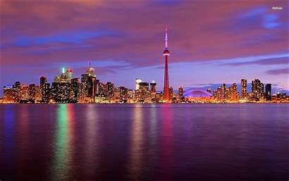 Toronto Skyline Wallpapers Desktop Guangzhou 4k Cleveland