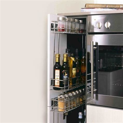 Narrow Pull Out Spice Rack by Spice Rack Pull Out Storage For New And Existing Cabinets