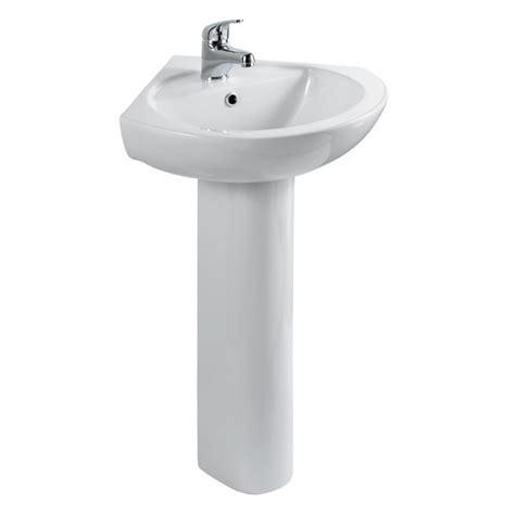 eastbrook loire  corner basin  full pedestal