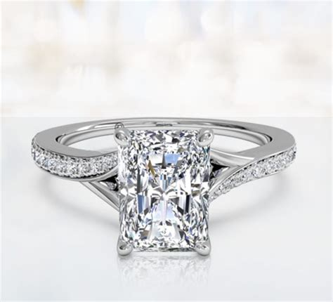 rectangle engagement ring buy radiant cut engagement rings ritani