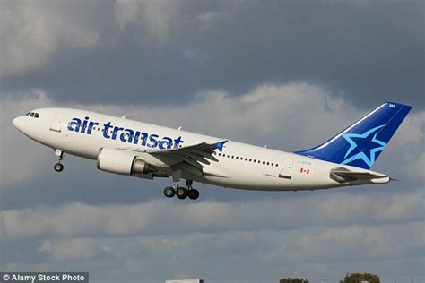 air transat toronto to air transat pilots are arrested on suspicion of being to fly daily mail
