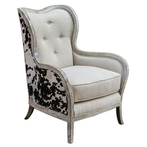 chalina bone white 42 inch arm chair uttermost arm chairs