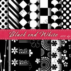Black And White Digital Scrapbooking Paper Cardmaking ...