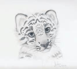 Baby Snow Leopard Drawing