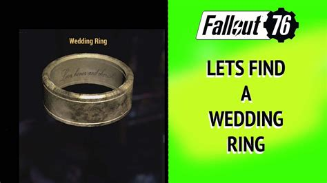 fallout 76 lets find a wedding ring youtube