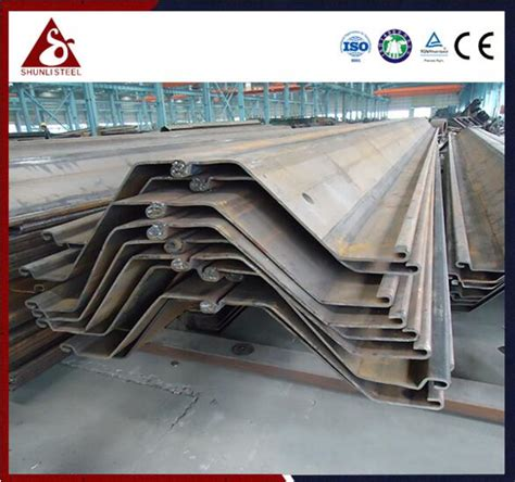 steel sheet pile types different and cost low shunli