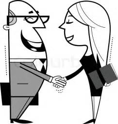 Shaking hands cartoon illustration | Stock Vector | Colourbox