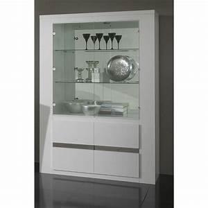 Vitrine En Verre Pas Cher : vaisselier vitrine design ~ Melissatoandfro.com Idées de Décoration