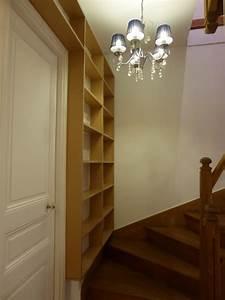Bibliothèque Faible Profondeur : biblioth que escalier faible profondeur atelier de sarah ~ Edinachiropracticcenter.com Idées de Décoration