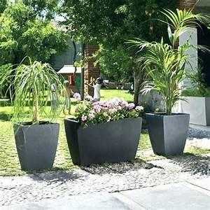 Bambou En Pot Pour Terrasse : pot deco terrasse decoration de jardin design horenove ~ Louise-bijoux.com Idées de Décoration