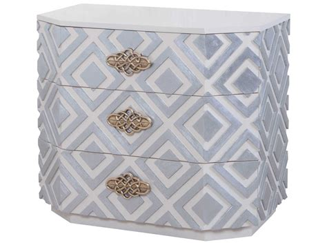 Silver Nightstand Ls by Dimond Home Nemeth Cappuccino Foam Silver Leaf 3 Drawers