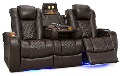 Home Theater Seating Loveseat by Seatcraft Anthem Home Theater Seating Leather Power