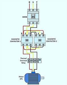 Wiring Diagram Forward-reverse For 3 Phase Motor