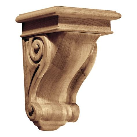 Decorative Wood Corbel in Shelf Brackets