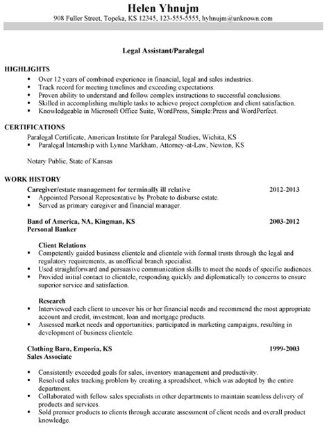 Paralegal Resume Template by Paralegal Resume Search The Backup Plan
