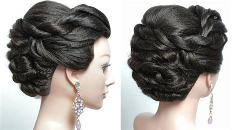 Bridal Hairstyle For Long Hair Tutorial. Wedding Prom Updo