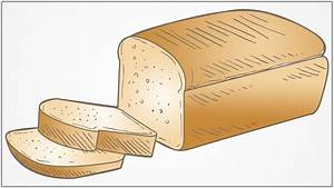 how to draw a bread step by step - YouTube