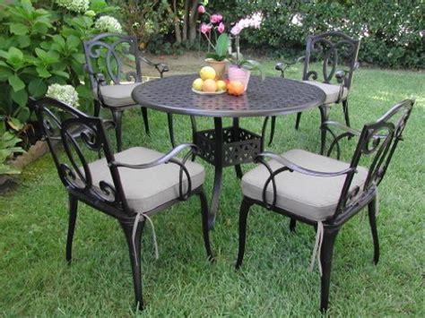 black friday outdoor cast aluminum patio furniture 5 pc