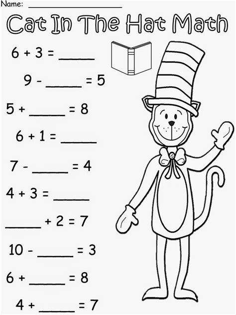 free cat in the hat math based the story by dr seuss for educational purposes only not