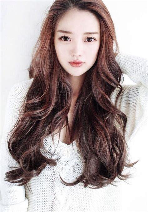 latest korean women hairstyles  long hair