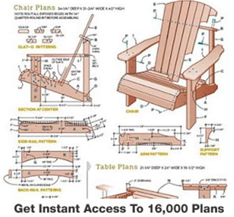 chair plans  woodworking plans  wooden