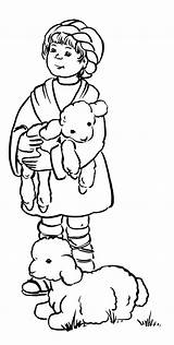 Clip Boy Shepherd Clipart Coloring Bible Colouring Pages Cliparts Sheep Journaling Boys Library sketch template