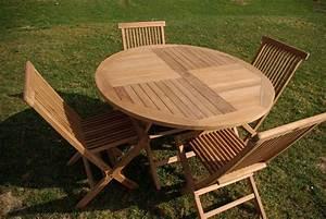 Salon De Jardin Rond : emejing salon de jardin teck table ronde pictures ~ Dailycaller-alerts.com Idées de Décoration