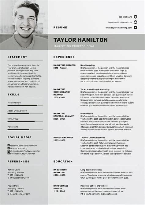 Professional Cv Template Word by Professional Cv Template Bundle Cv Package With Cover