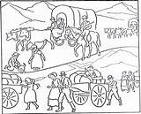 Coloring History Pioneer Covered Wagon Mormon Lds Communication Activities Mystery Bridge Activity Transportation Improvement Days Trail October Printable 1923 Sheets sketch template