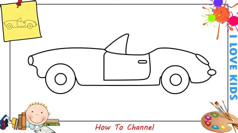 How To Draw A Car Step By Step With Pictures by How To Draw A Car Easy Slowly Step By Step For