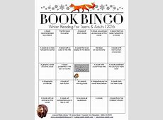 Head on over to the library and pick up your Book Bingo