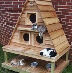 cat house plans outdoor cat house outdoor cat house building plans