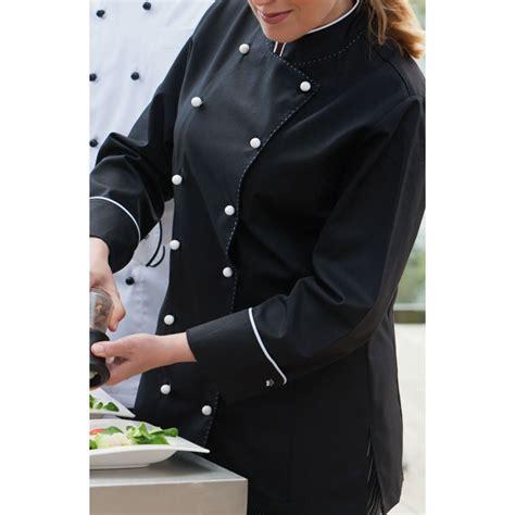 femme chef cuisine veste chef de cuisine pour femmes manches longues