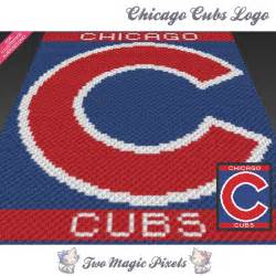 chicago cubs logo crochet blanket pattern