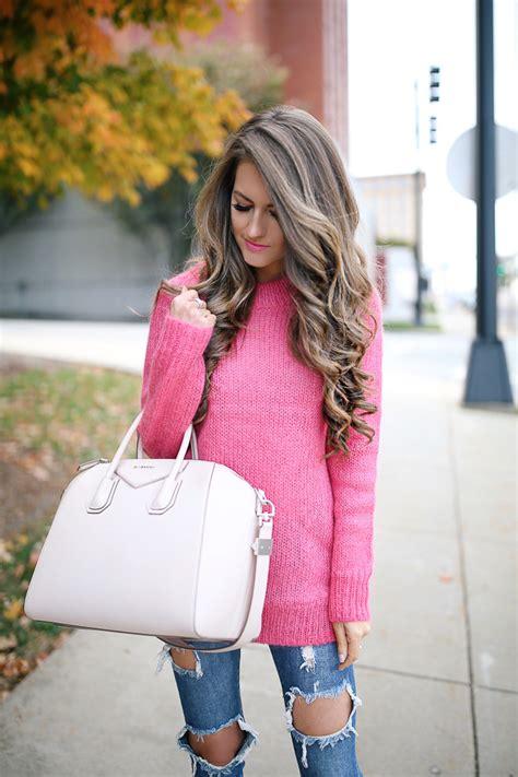 Hot Pink Sweater | Southern Curls u0026 Pearls | Bloglovinu2019