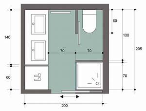 une petite salle de bain avec douche italienne bien amnage With plan salle de bain 4m2