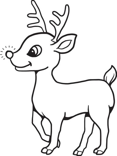 Free, Printable Baby Reindeer Christmas Coloring Page For Kids