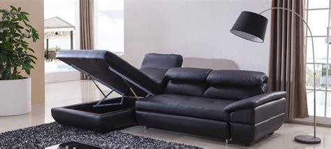 canape en cuir noir canapé d 39 angle gauche convertible cuir noir mezzio