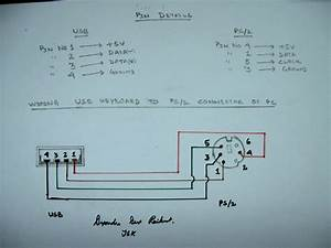 Ps2 5wire Keyboard To Usb Wiring Diagram Red Yellow Brown Grey Bare