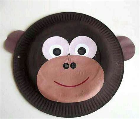 paper plate monkey monkey easy paper plate craft for letter mm 2637
