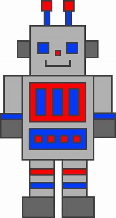 Robot Clip Clipart Toy Robots Cliparts Silver